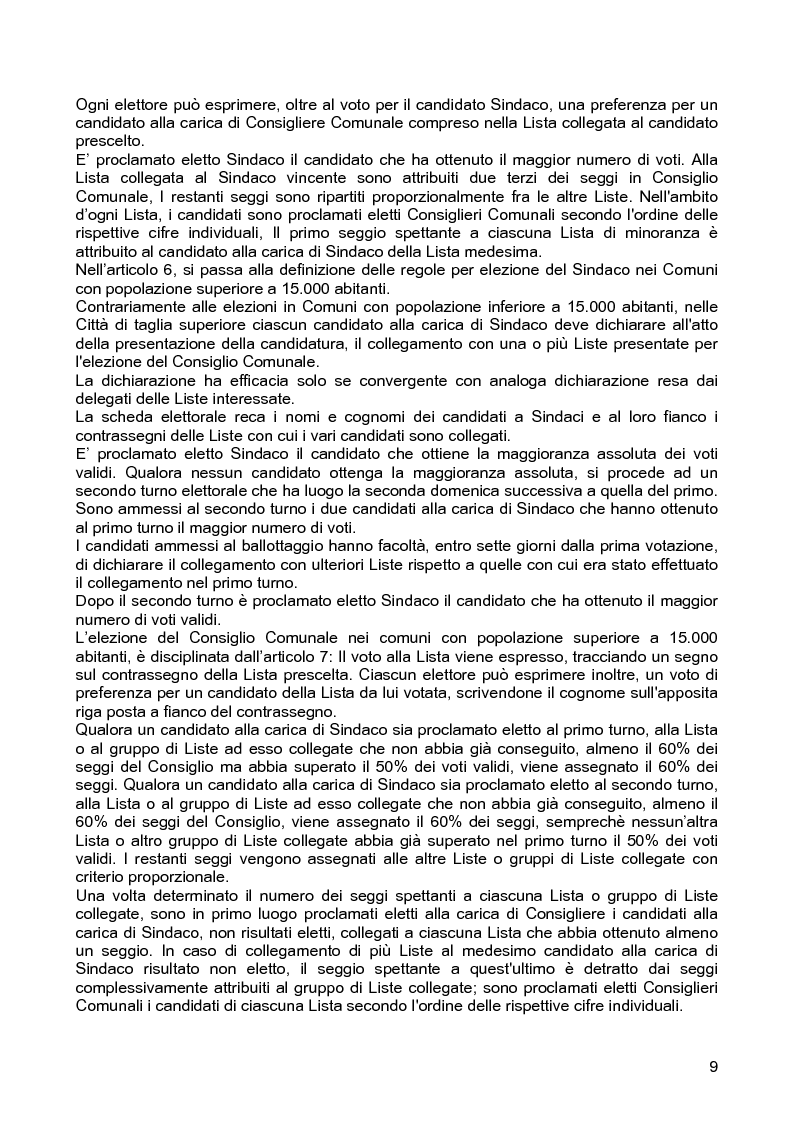 Anteprima della tesi: Le assemblee elettive locali nella transizione italiana. Analisi di un caso, Pagina 7