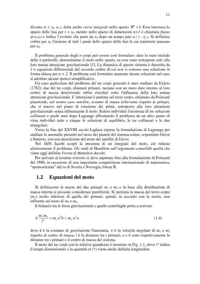 Anteprima della tesi: Trasferimenti Interplanetari a Bassa Spinta Tramite Varietà Invarianti e Neurocontrollori Evolutivi, Pagina 7