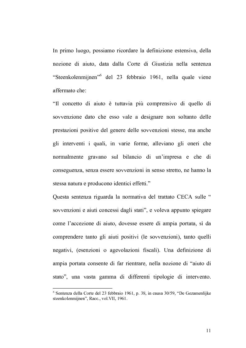 Anteprima della tesi: Gli aiuti fiscali, Pagina 9