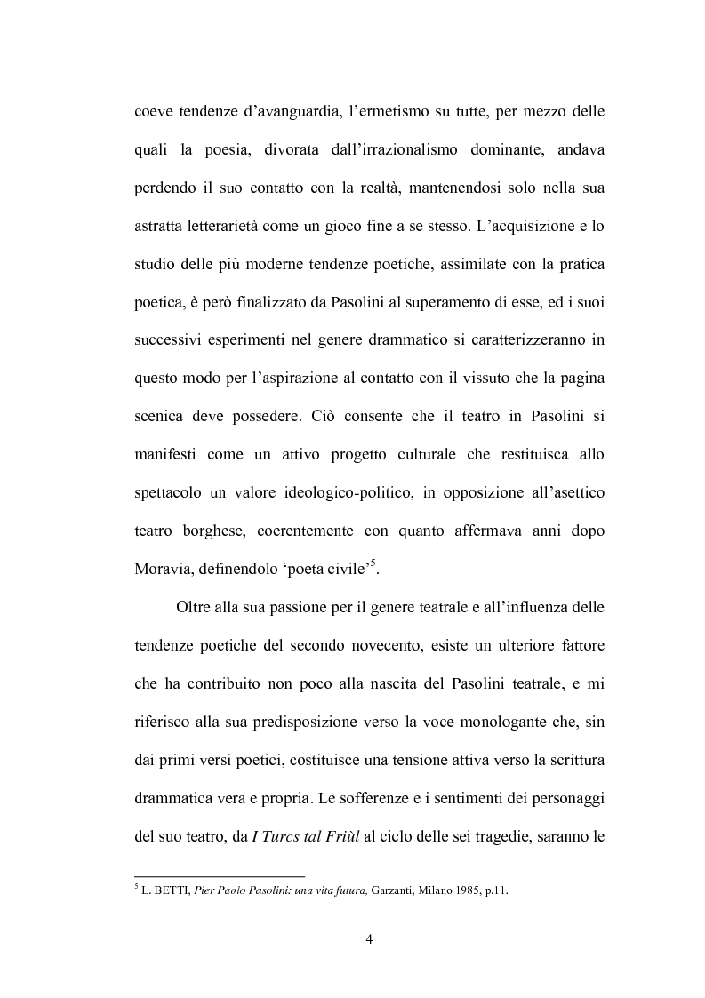 Anteprima della tesi: Il Vantone tra mito e dialetto. Il teatro di Pier Paolo Pasolini, Pagina 8