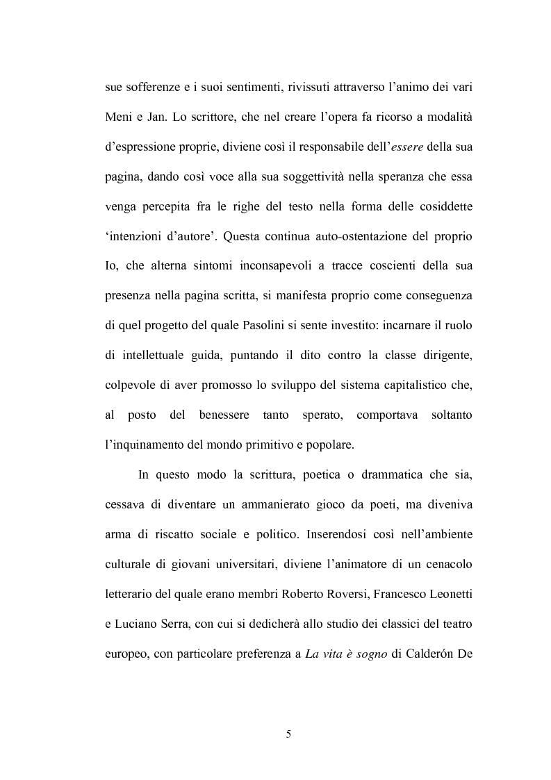 Anteprima della tesi: Il Vantone tra mito e dialetto. Il teatro di Pier Paolo Pasolini, Pagina 9