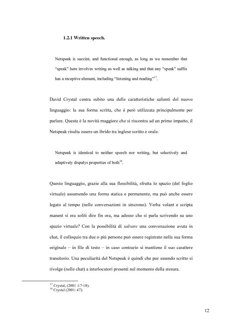 Anteprima della tesi: Netspeak, Hypertext and Virtual Communities : Communicating in Cyberspace, Pagina 14