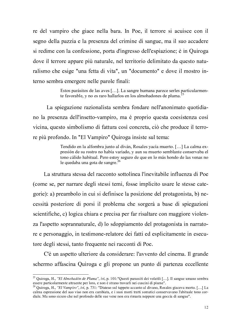 Anteprima della tesi: Due ''filosofie'' dell'orrore: Horacio Quiroga e Howard Phillips Lovecraft, Pagina 12