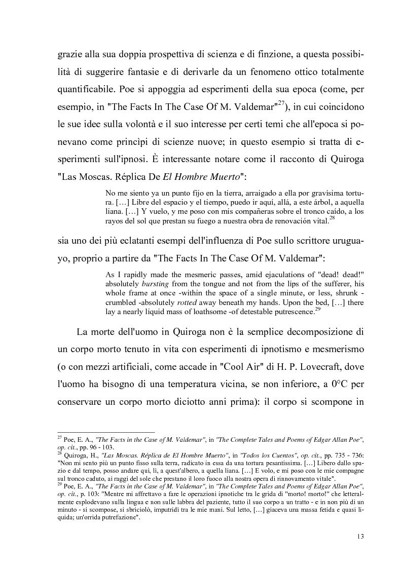 Anteprima della tesi: Due ''filosofie'' dell'orrore: Horacio Quiroga e Howard Phillips Lovecraft, Pagina 13