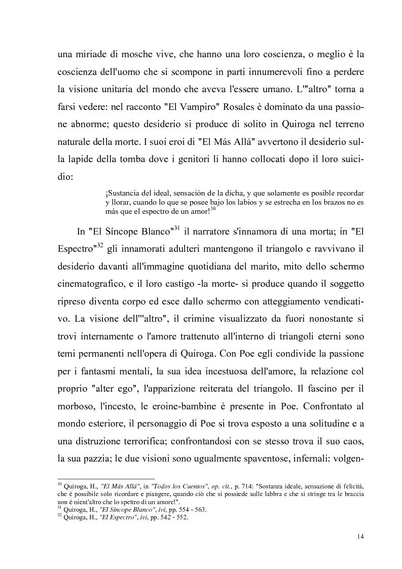 Anteprima della tesi: Due ''filosofie'' dell'orrore: Horacio Quiroga e Howard Phillips Lovecraft, Pagina 14