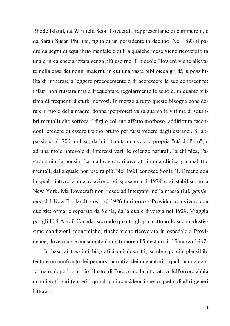 Anteprima della tesi: Due ''filosofie'' dell'orrore: Horacio Quiroga e Howard Phillips Lovecraft, Pagina 4