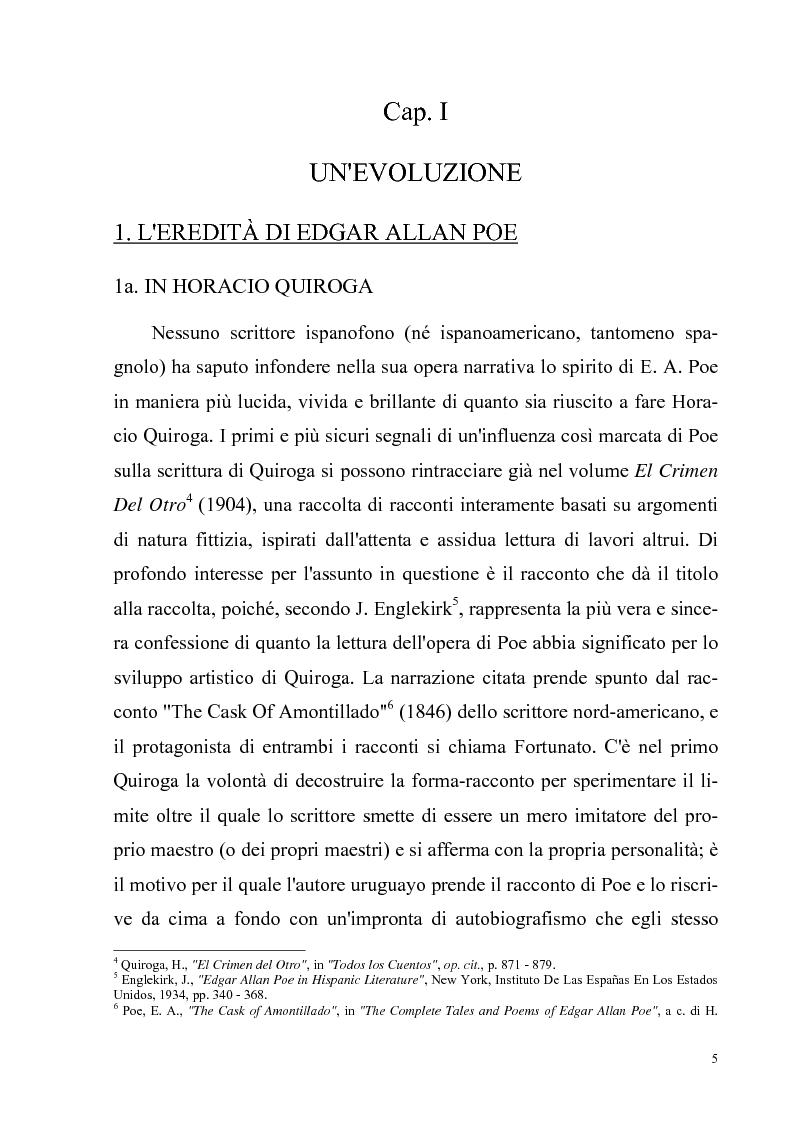 Anteprima della tesi: Due ''filosofie'' dell'orrore: Horacio Quiroga e Howard Phillips Lovecraft, Pagina 5