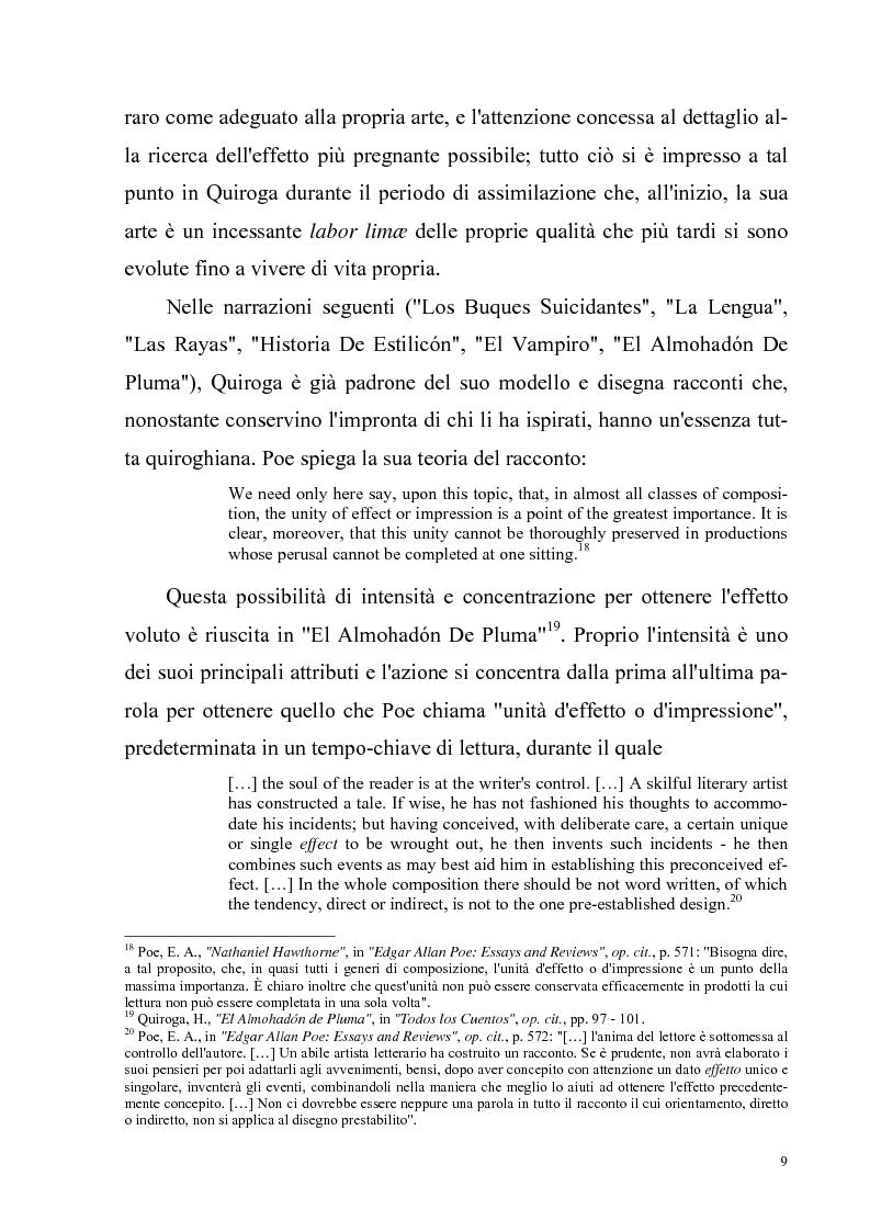 Anteprima della tesi: Due ''filosofie'' dell'orrore: Horacio Quiroga e Howard Phillips Lovecraft, Pagina 9