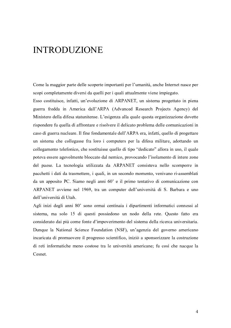 Anteprima della tesi: Le donne e Internet: il digital divide di genere, Pagina 1