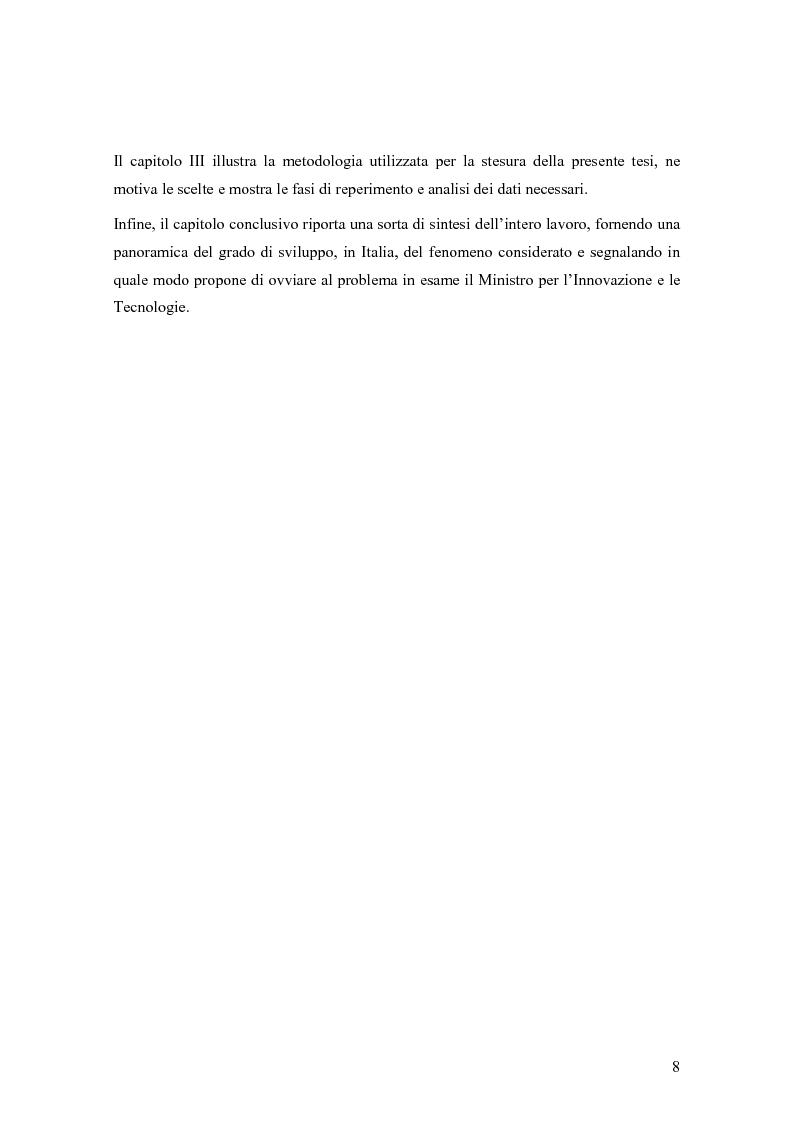 Anteprima della tesi: Le donne e Internet: il digital divide di genere, Pagina 5