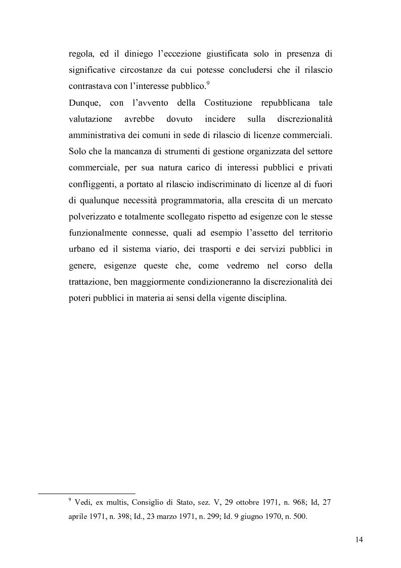 Anteprima della tesi: La discrezionalità amministrativa nella disciplina del commercio al dettaglio in sede fissa, Pagina 11