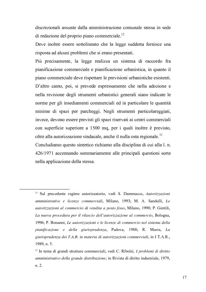 Anteprima della tesi: La discrezionalità amministrativa nella disciplina del commercio al dettaglio in sede fissa, Pagina 14