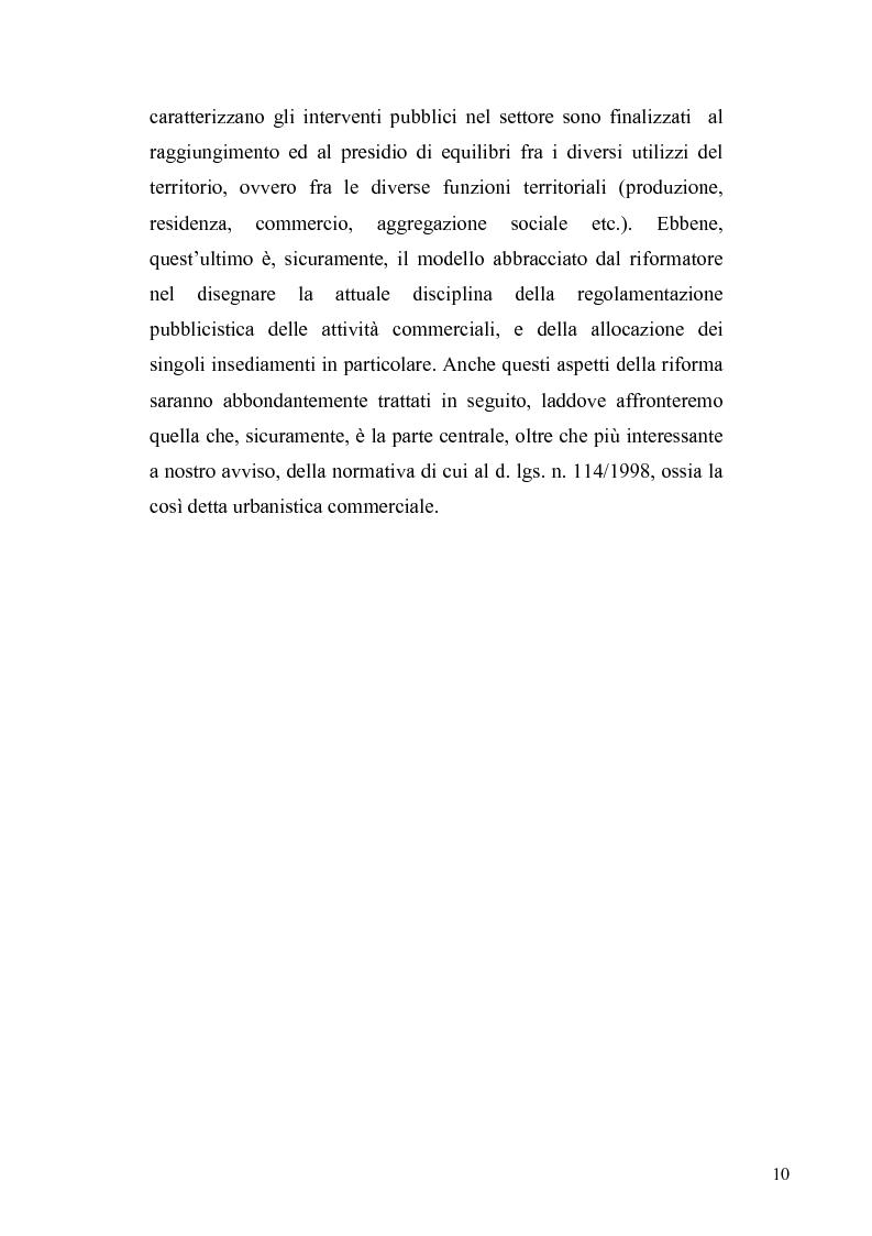 Anteprima della tesi: La discrezionalità amministrativa nella disciplina del commercio al dettaglio in sede fissa, Pagina 7