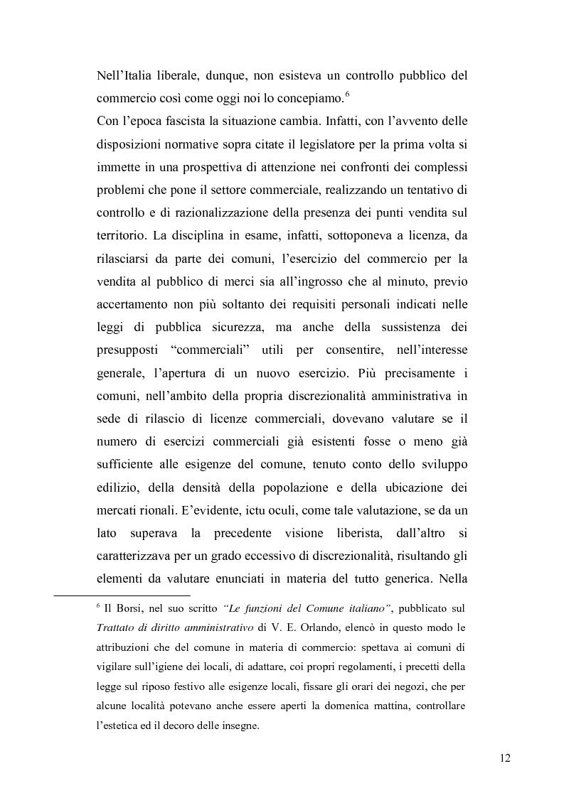 Anteprima della tesi: La discrezionalità amministrativa nella disciplina del commercio al dettaglio in sede fissa, Pagina 9