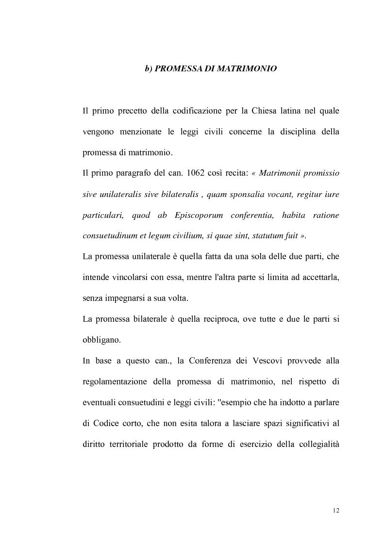 Anteprima della tesi: Rilevanza dello ius civile nella disciplina del matrimonio canonico, Pagina 10