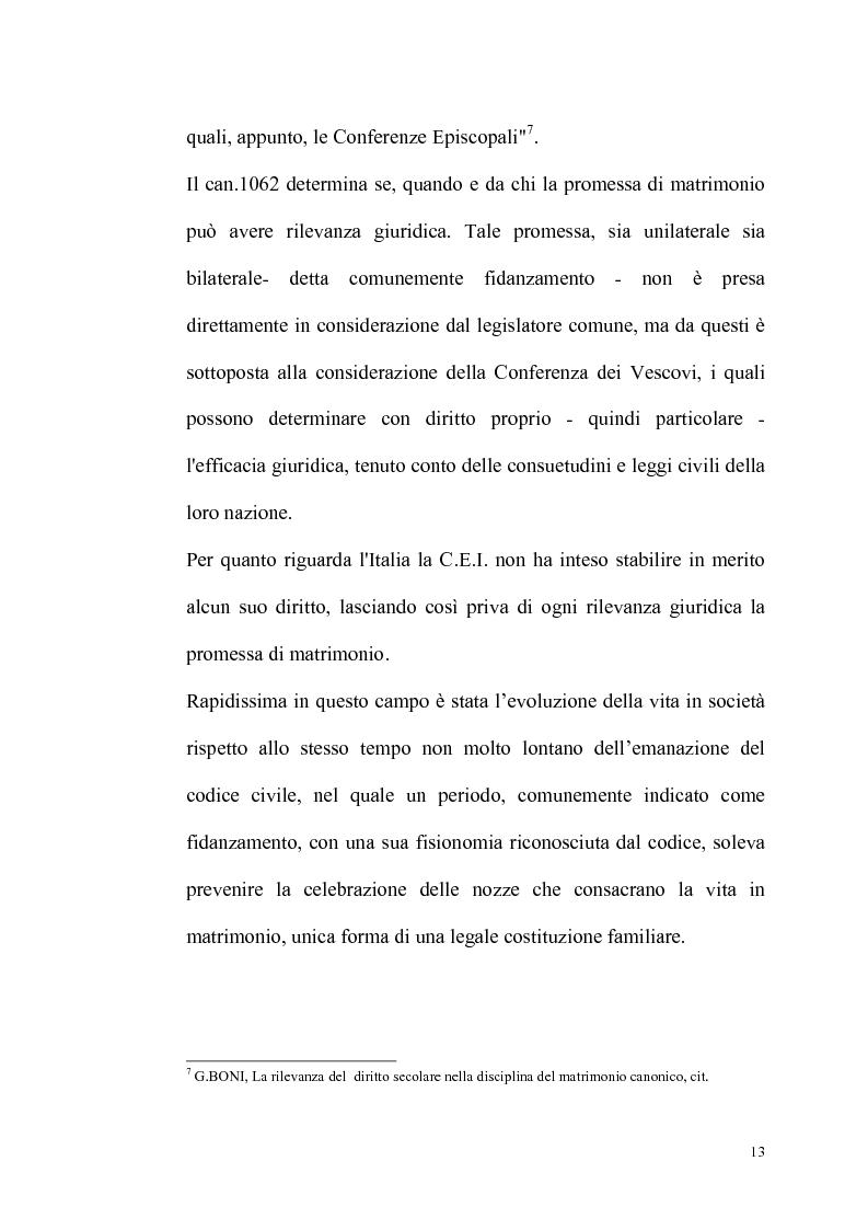 Anteprima della tesi: Rilevanza dello ius civile nella disciplina del matrimonio canonico, Pagina 11