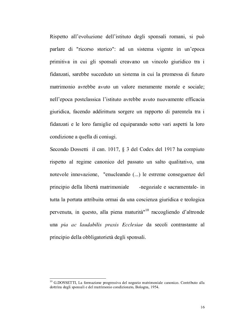 Anteprima della tesi: Rilevanza dello ius civile nella disciplina del matrimonio canonico, Pagina 14