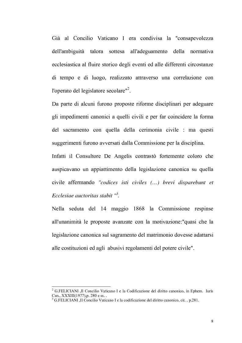 Anteprima della tesi: Rilevanza dello ius civile nella disciplina del matrimonio canonico, Pagina 6