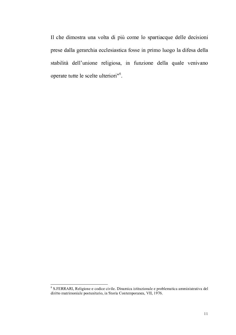 Anteprima della tesi: Rilevanza dello ius civile nella disciplina del matrimonio canonico, Pagina 9