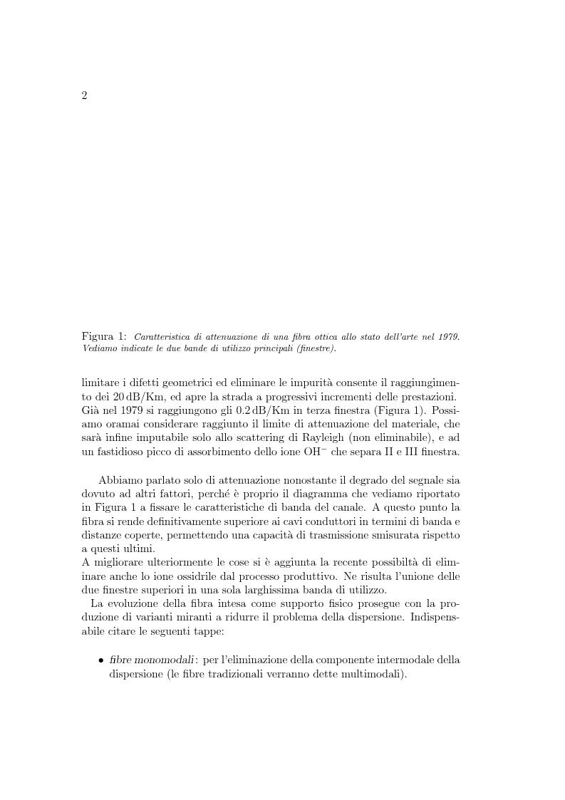 Anteprima della tesi: Implementazione di un simulatore per la propagazione di impulsi in un canale ottico., Pagina 2
