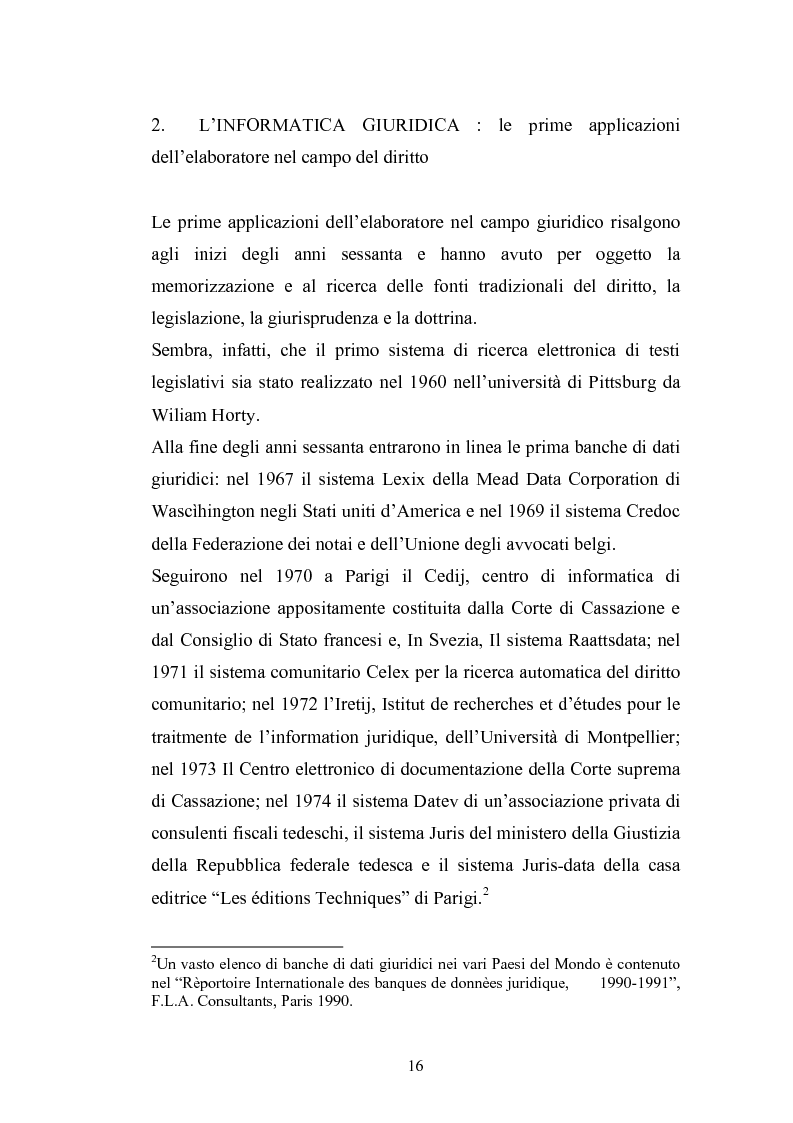 Anteprima della tesi: Problemi giuridici della teleamministrazione e atto elettronico, Pagina 10