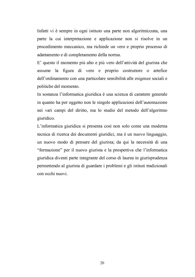 Anteprima della tesi: Problemi giuridici della teleamministrazione e atto elettronico, Pagina 14