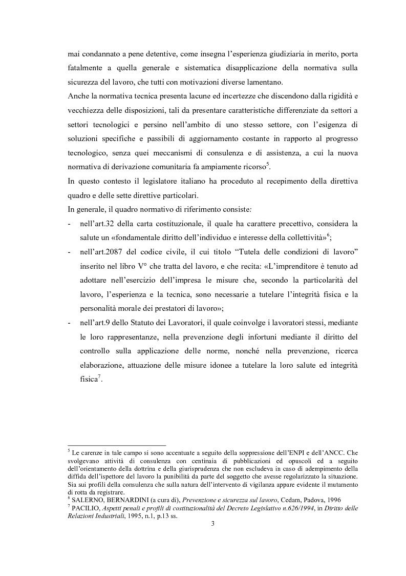 Anteprima della tesi: Gli obblighi del d.lgs 626/94: i soggetti innovativi, Pagina 6
