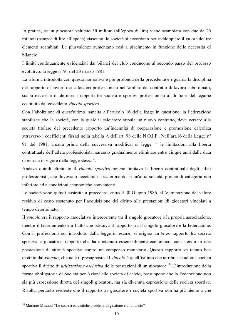 Anteprima della tesi: La gestione delle società di calcio: performance e circolo vizioso. Alcuni casi a confronto, Pagina 10