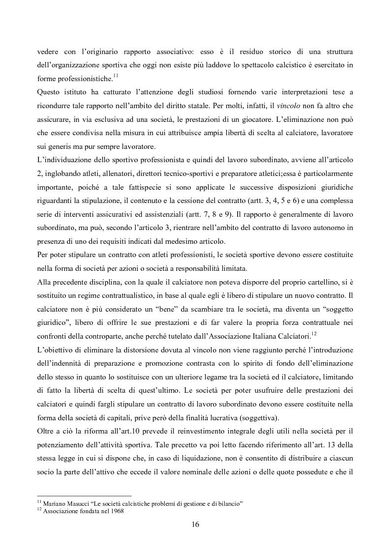 Anteprima della tesi: La gestione delle società di calcio: performance e circolo vizioso. Alcuni casi a confronto, Pagina 11