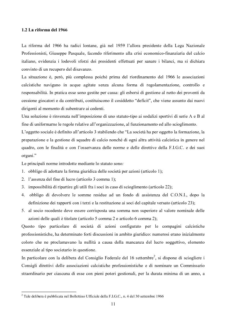 Anteprima della tesi: La gestione delle società di calcio: performance e circolo vizioso. Alcuni casi a confronto, Pagina 6