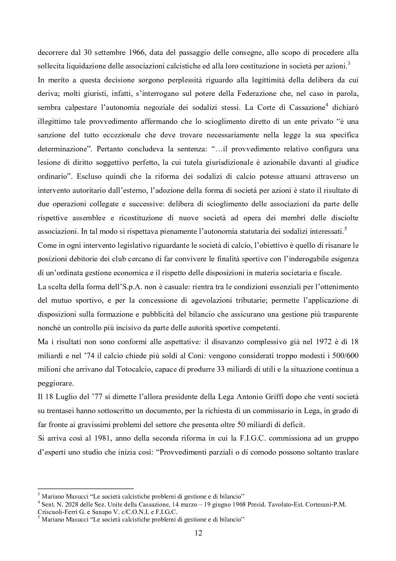 Anteprima della tesi: La gestione delle società di calcio: performance e circolo vizioso. Alcuni casi a confronto, Pagina 7