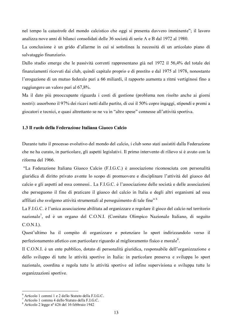 Anteprima della tesi: La gestione delle società di calcio: performance e circolo vizioso. Alcuni casi a confronto, Pagina 8