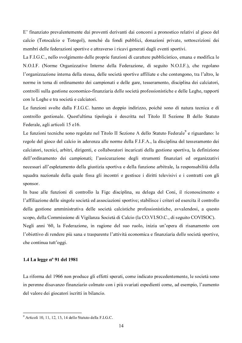 Anteprima della tesi: La gestione delle società di calcio: performance e circolo vizioso. Alcuni casi a confronto, Pagina 9