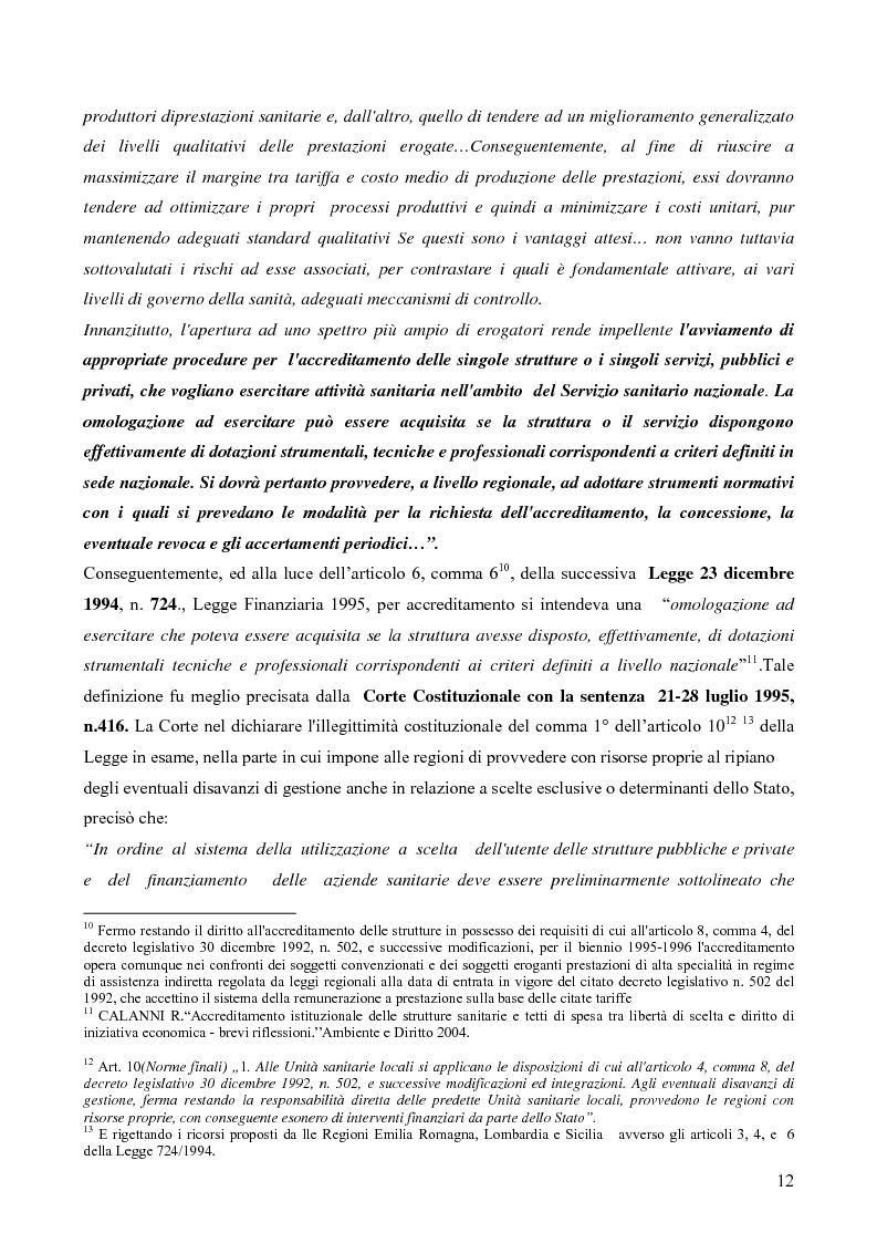Anteprima della tesi: Il Quality System nel Sistema Sanitario Italiano: L'accreditamento Istituzionale delle strutture sanitarie EX D.LGS. N.229/1999 nel sistema regionale: un approccio giusoperativo, Pagina 8
