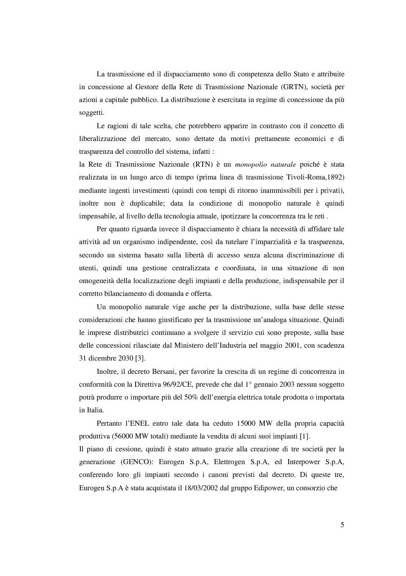 Anteprima della tesi: Evoluzione del Sistema Elettrico Nazionale e analisi di modelli di ottimizzazione applicati al mercato dell'energia elettrica, Pagina 5