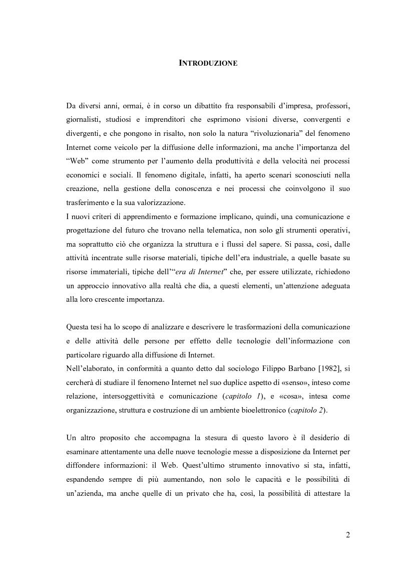 Anteprima della tesi: Grafica e Web: nuove forme di comunicazione nell'attuale panorama tecnologico, Pagina 1