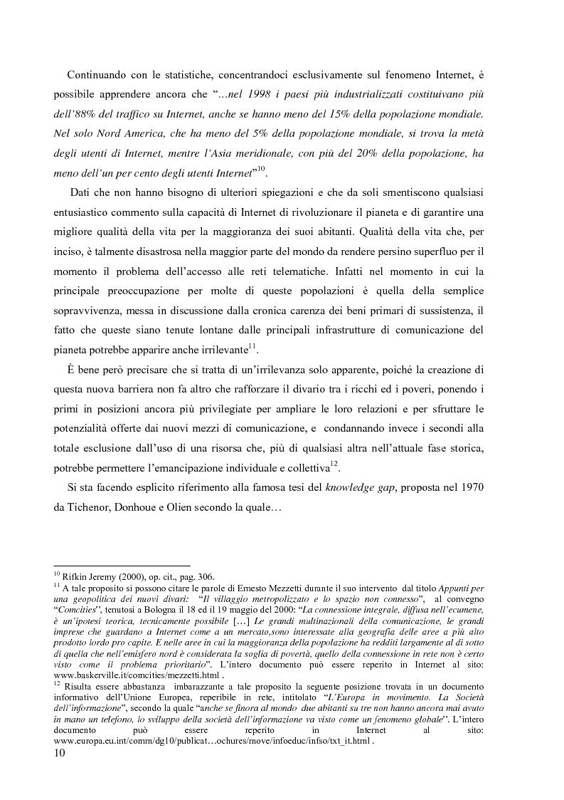 Anteprima della tesi: Nuove tecnologie e nuovi diritti. Democrazia, servizi, tutela degli spazi pubblici ai tempi di internet, Pagina 10