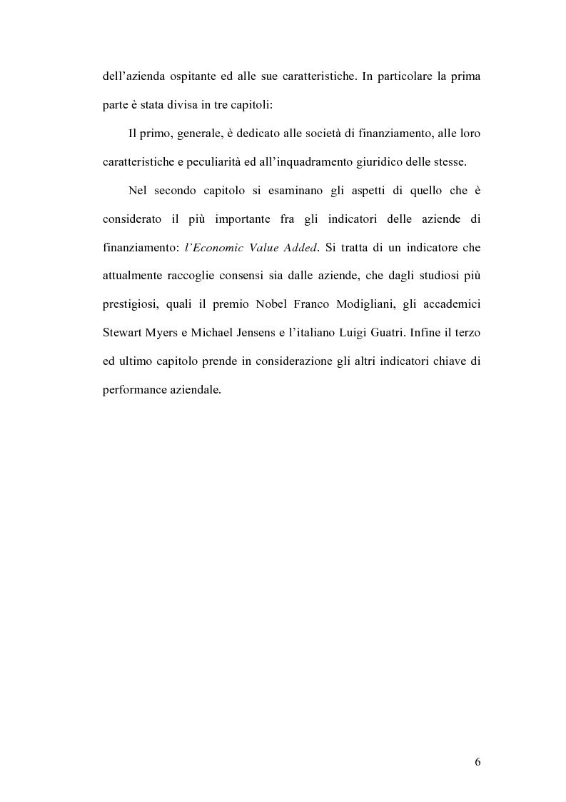 Anteprima della tesi: Indicatori strategici per la gestione delle imprese di finanziamento, Pagina 3