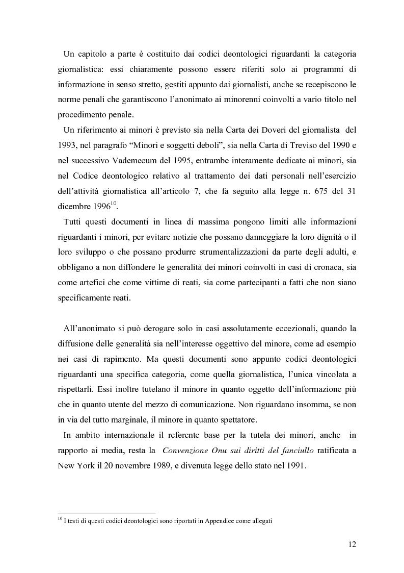 Anteprima della tesi: Tv e minori - il nuovo codice di autoregolamentazione, Pagina 10