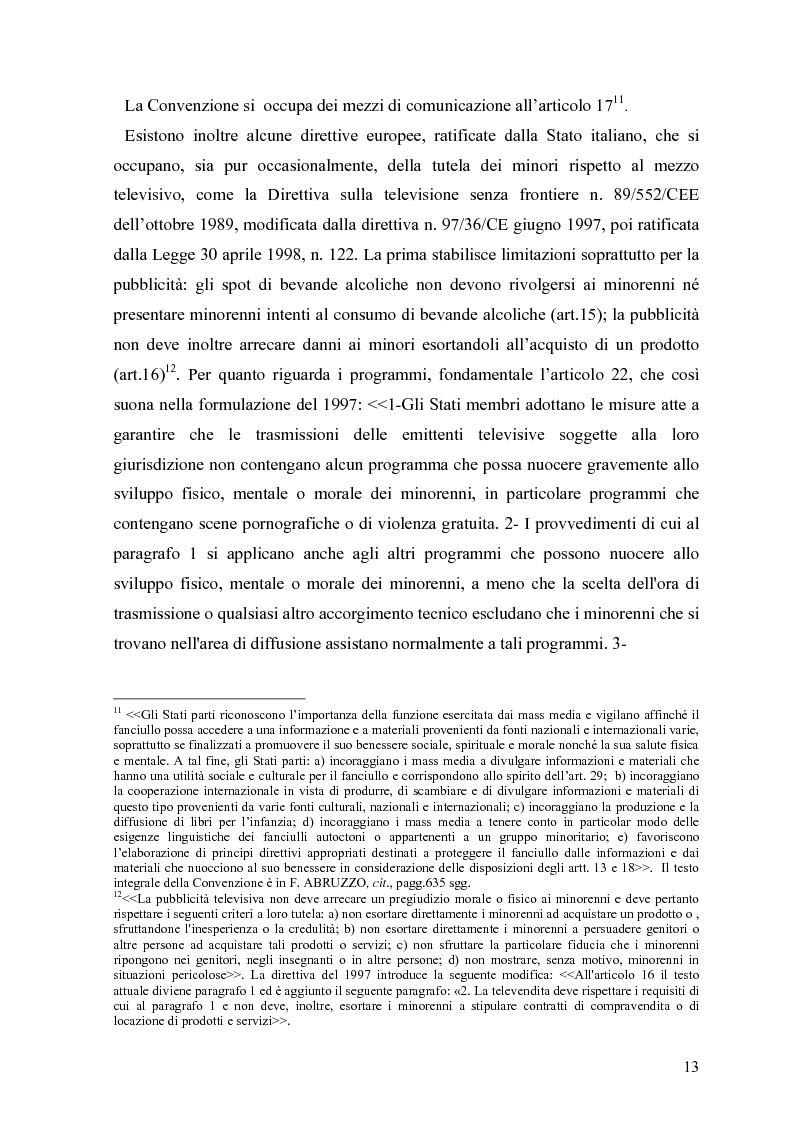 Anteprima della tesi: Tv e minori - il nuovo codice di autoregolamentazione, Pagina 11