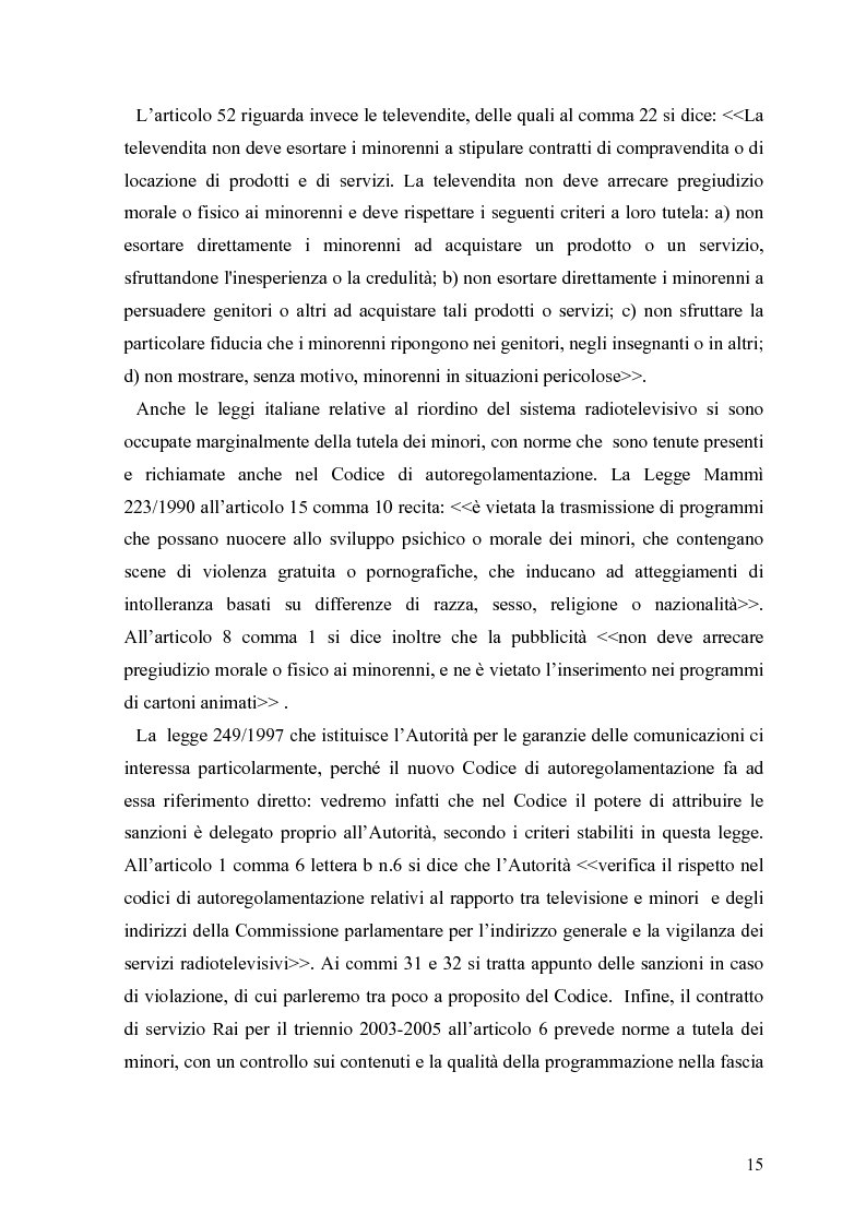 Anteprima della tesi: Tv e minori - il nuovo codice di autoregolamentazione, Pagina 13