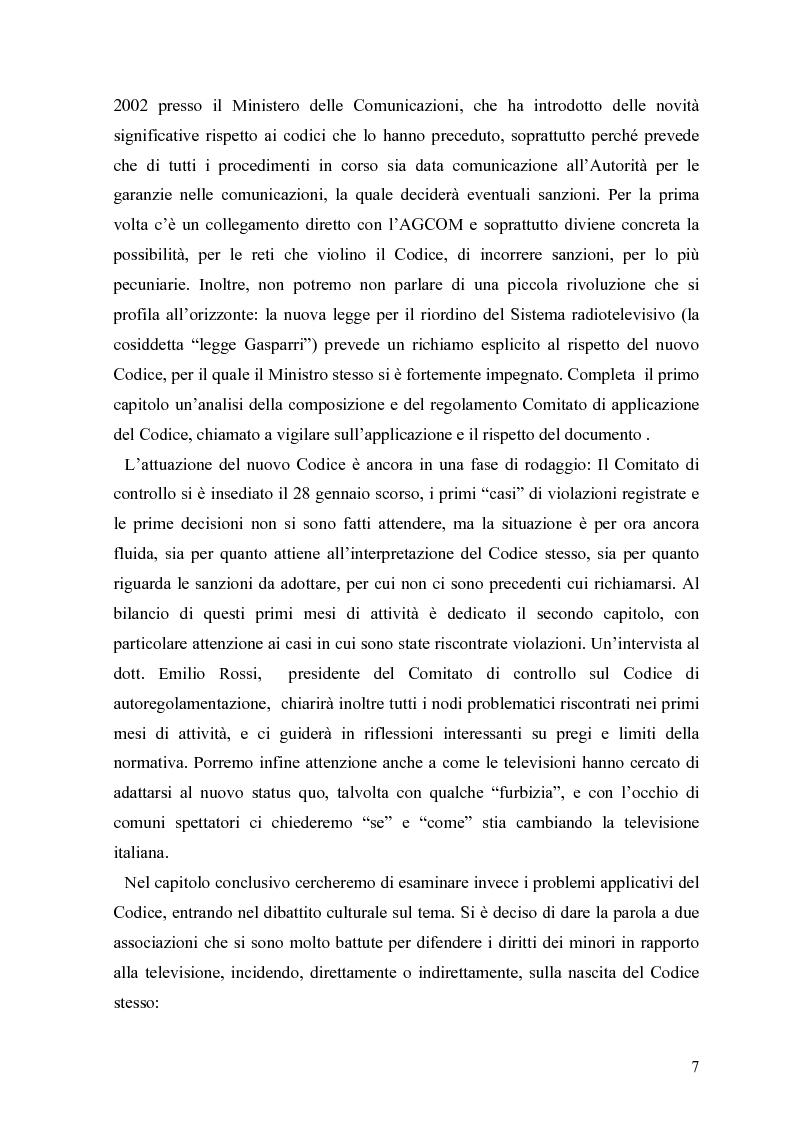 Anteprima della tesi: Tv e minori - il nuovo codice di autoregolamentazione, Pagina 5