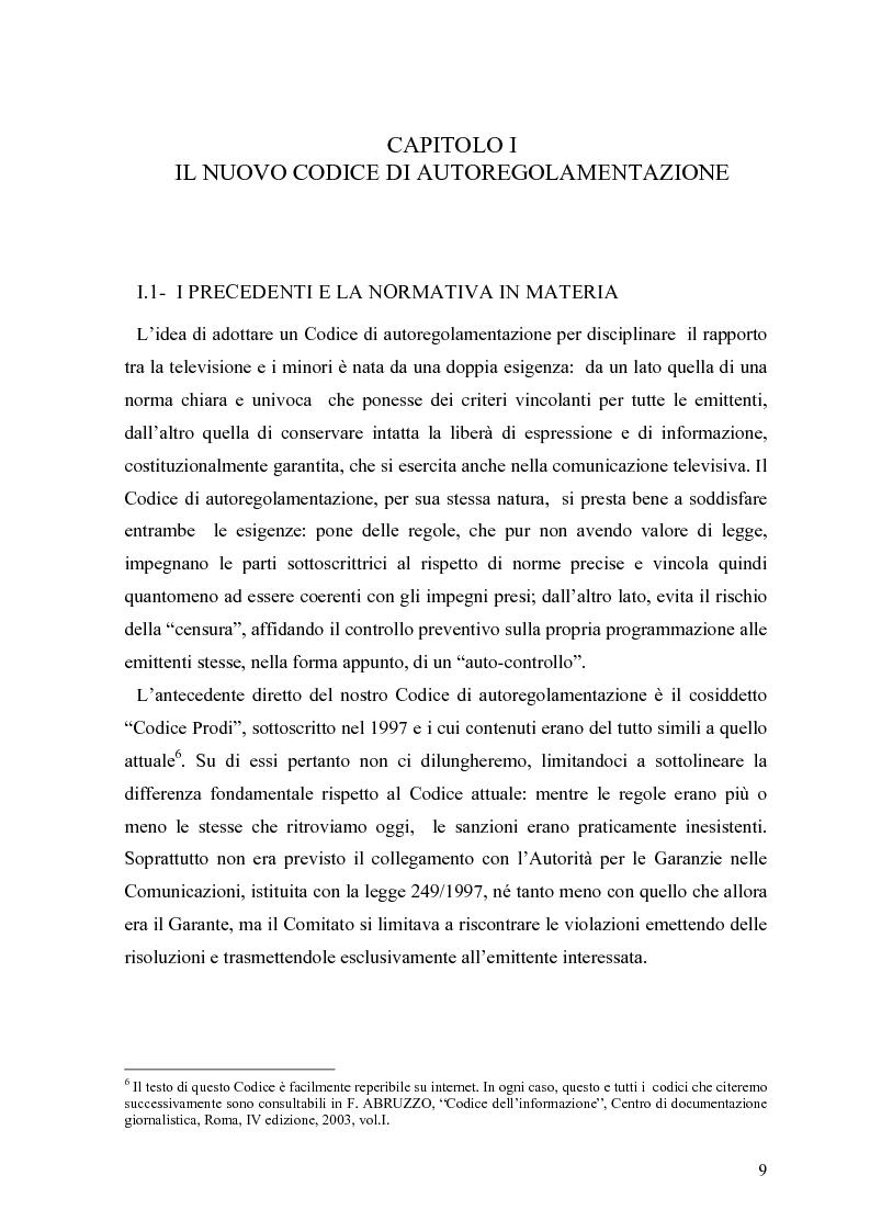 Anteprima della tesi: Tv e minori - il nuovo codice di autoregolamentazione, Pagina 7