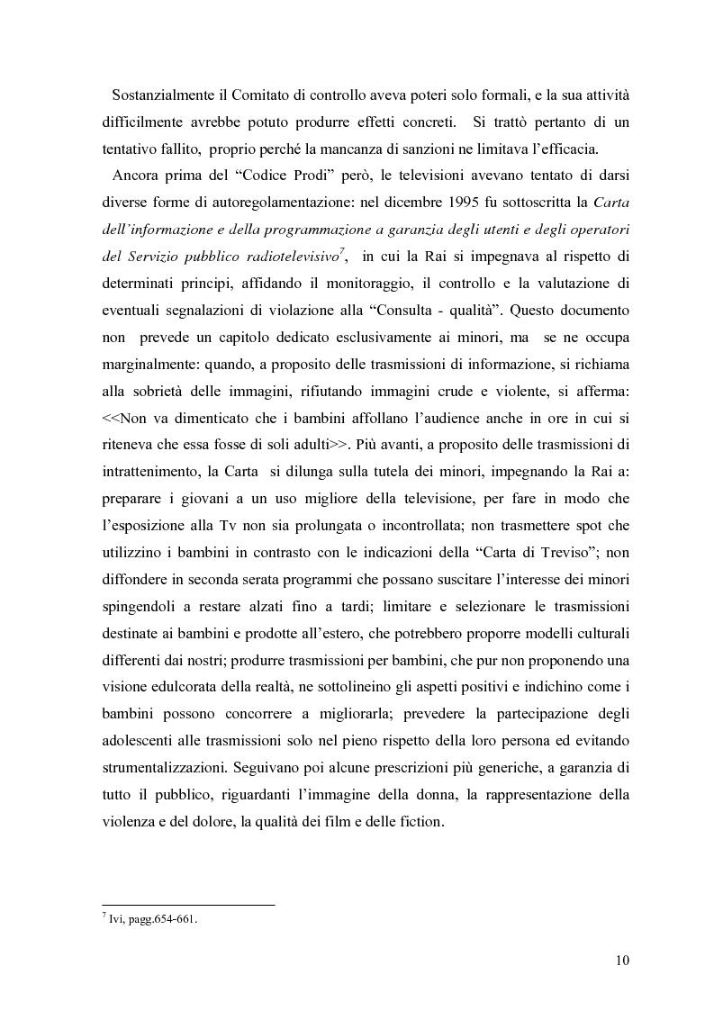 Anteprima della tesi: Tv e minori - il nuovo codice di autoregolamentazione, Pagina 8