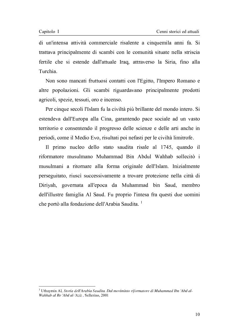 Anteprima della tesi: Gli attuali indirizzi di politica penale in Arabia Saudita, Pagina 5