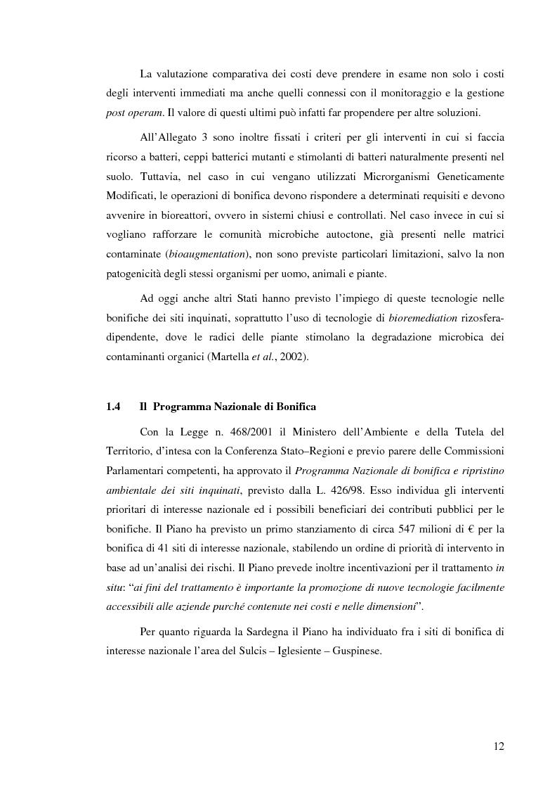 Anteprima della tesi: Effetti delle zeoliti naturali sul processo di phytoremediation di terreni contaminati da zinco e piombo, Pagina 12
