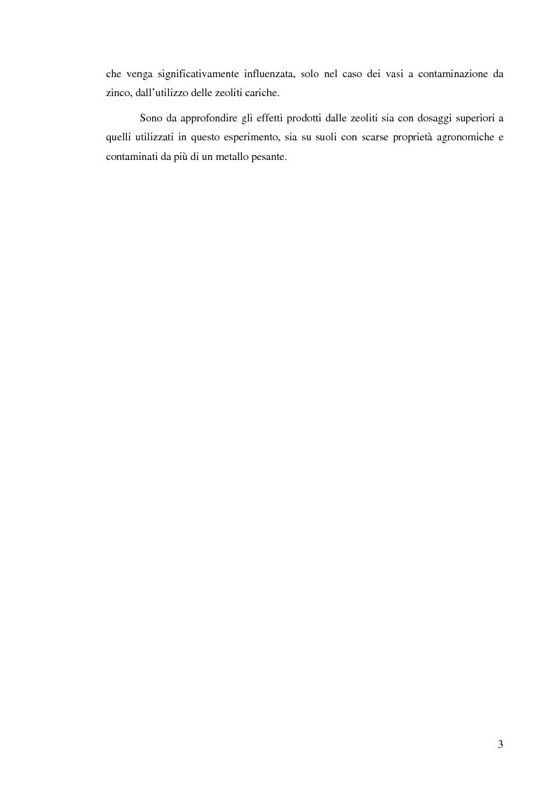 Anteprima della tesi: Effetti delle zeoliti naturali sul processo di phytoremediation di terreni contaminati da zinco e piombo, Pagina 3