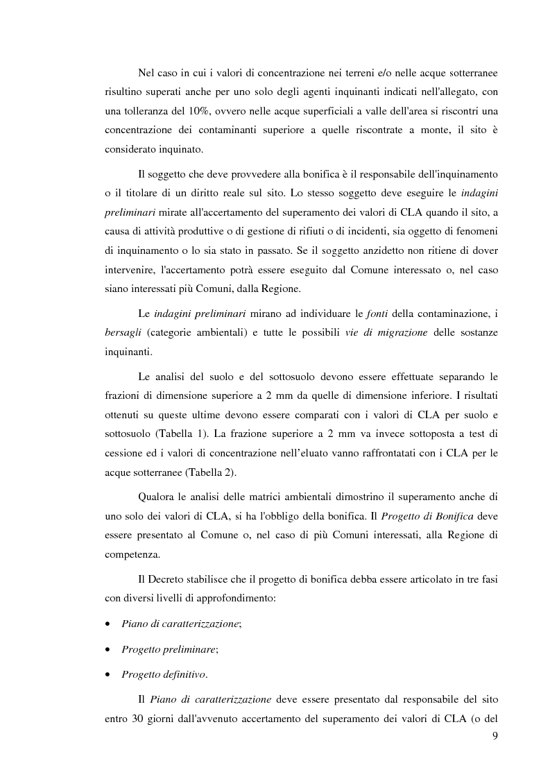 Anteprima della tesi: Effetti delle zeoliti naturali sul processo di phytoremediation di terreni contaminati da zinco e piombo, Pagina 9