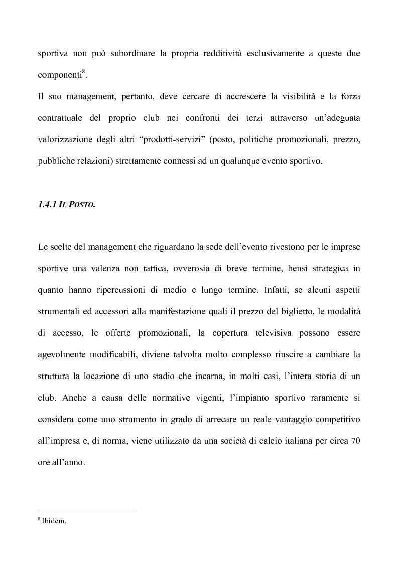 Anteprima della tesi: Sport & Business un matrimonio di interesse: la comunicazione nel marketing sportivo: i casi A.C.Milan e Teramo Basket, Pagina 13