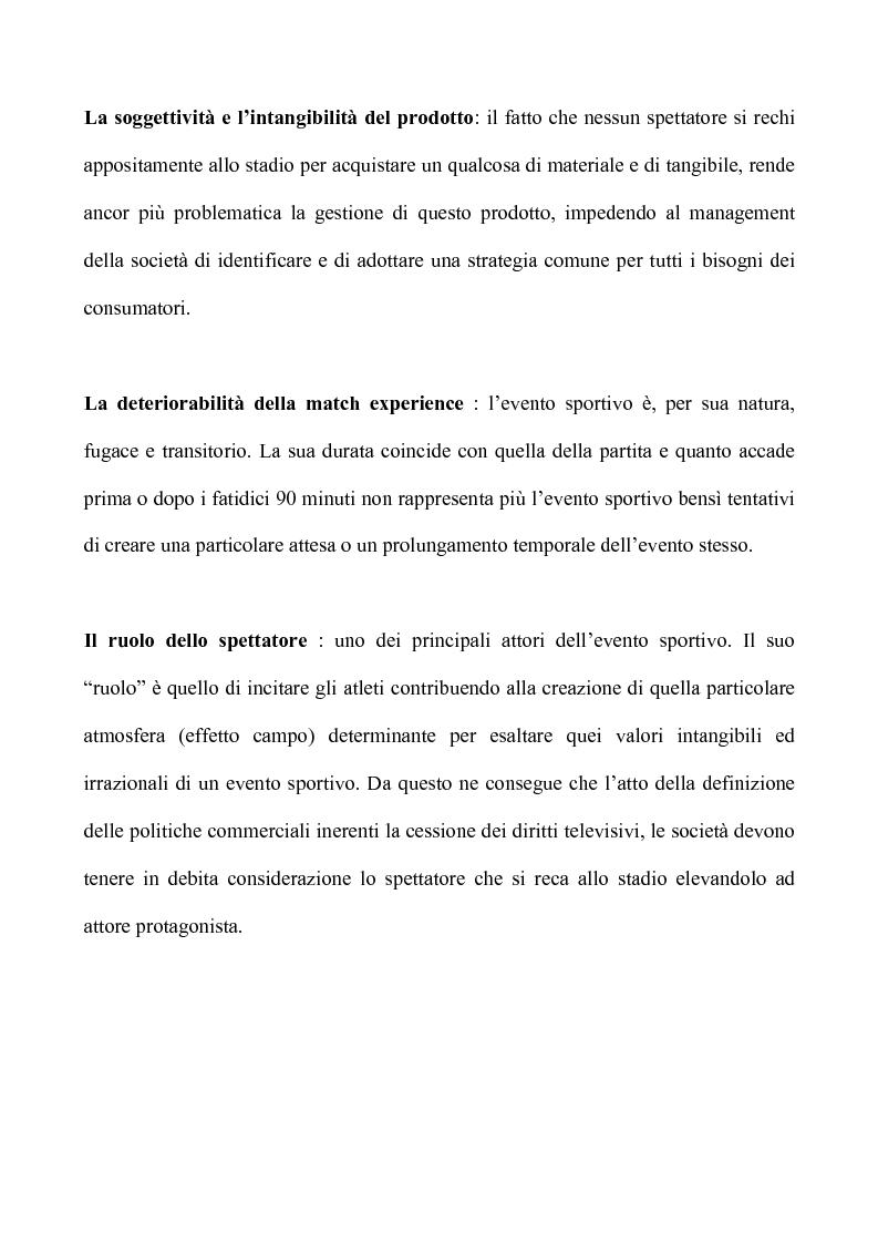 Anteprima della tesi: Sport & Business un matrimonio di interesse: la comunicazione nel marketing sportivo: i casi A.C.Milan e Teramo Basket, Pagina 9